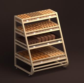Стеллаж хлебный угловой