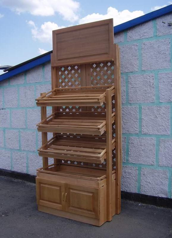 Стеллаж деревянный для хлеба