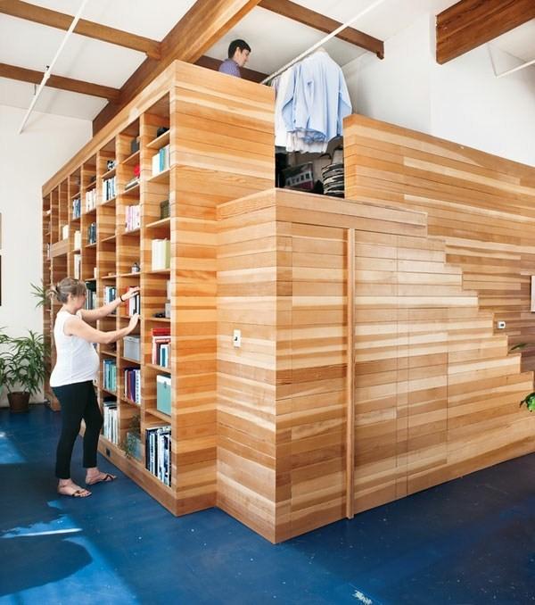 Книжный шкаф двух ярусный в библиотеку