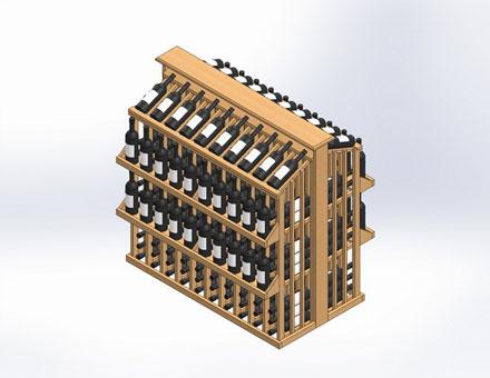 Стеллажи винные
